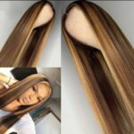 Essibeautiful 100% Vietnamese bone straight virgin human hair wig in 24 inches piano ombre color.