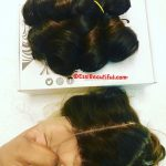 Virgin Bouncy Ombre bundles with 6×6 Frontal