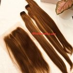 Virgin bone straight Ombre with 6×6 frontal