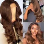 EssiBeautiful Virgin human hair body wave Peruvian hair in 24inches colored brown