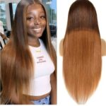Essibeautiful Malaysian virgin human hair in 24inches – color light brown wig